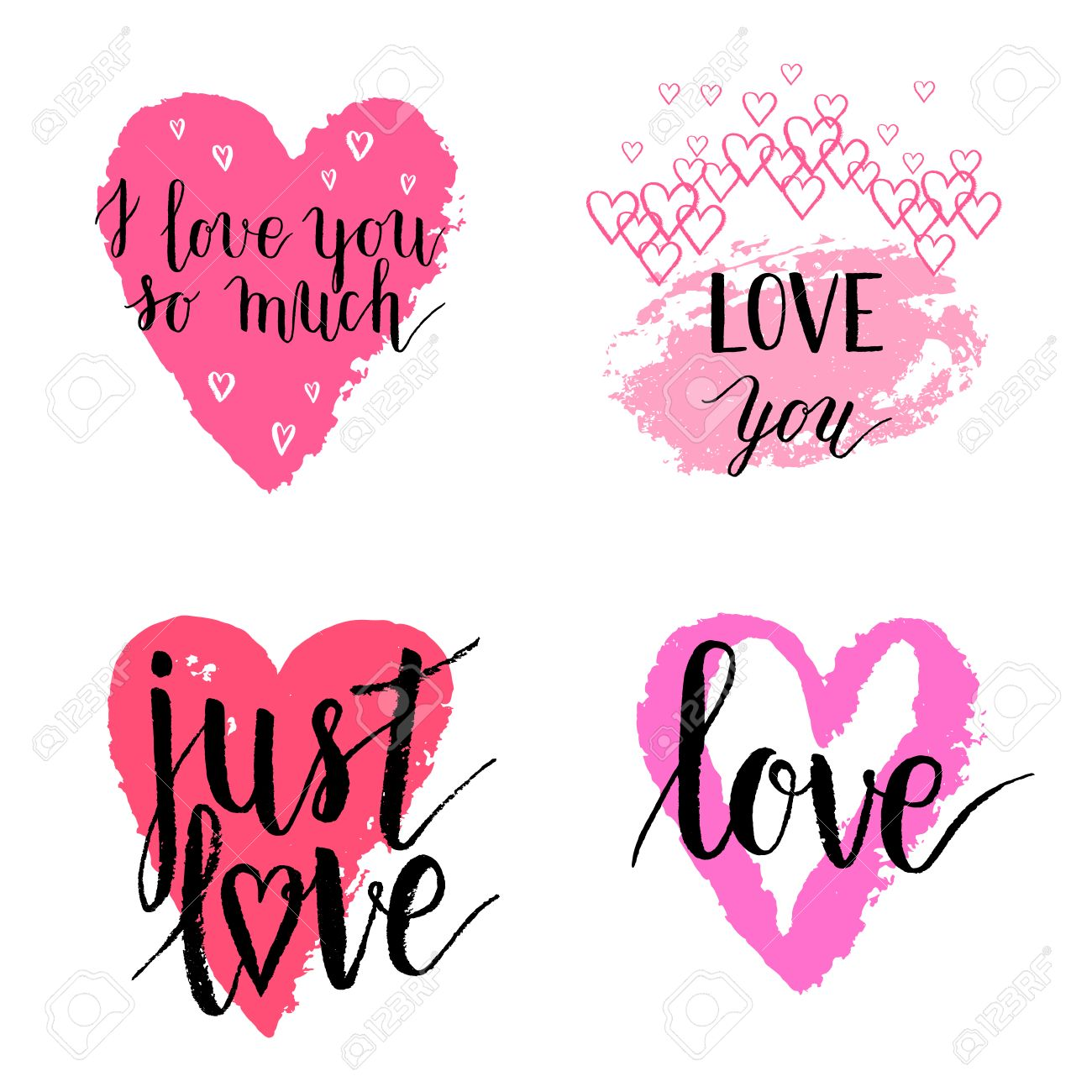 I love you so much just love greeting cards posters set with ink i love you so much just love greeting cards posters set with ink hand m4hsunfo