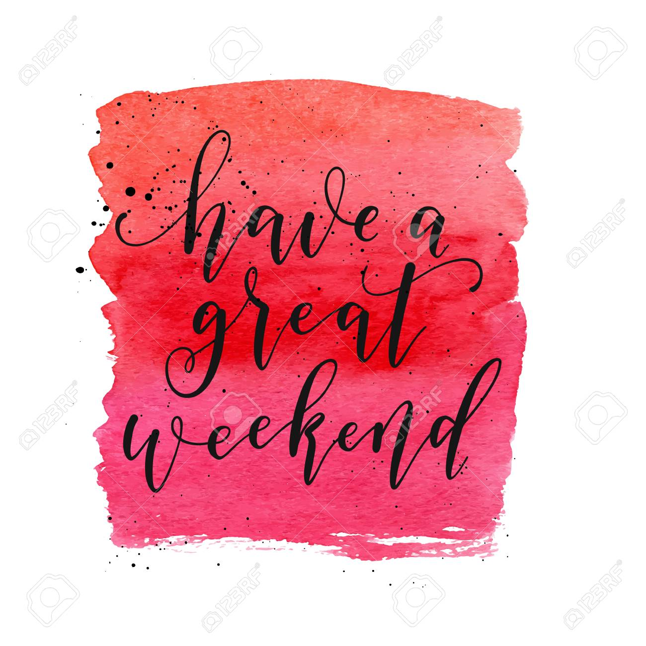 Have A Great Weekend Text Vector Greeting Card Poster Banner