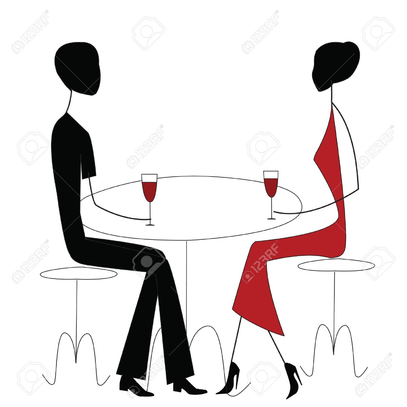 man and woman in a restaurant - 10274655