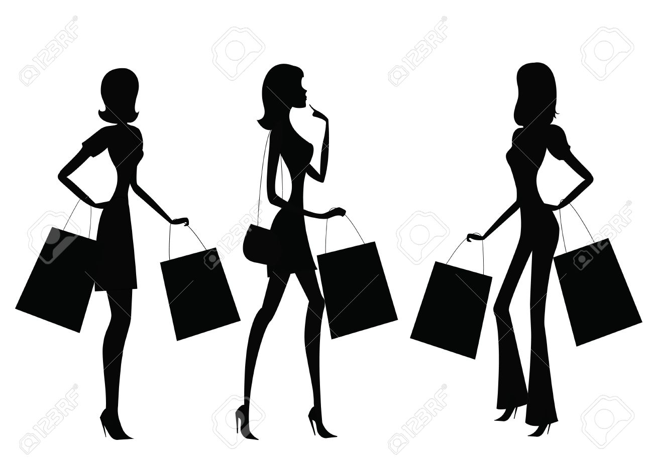 Women Shopping Royalty Free Cliparts, Vectors, And Stock ...