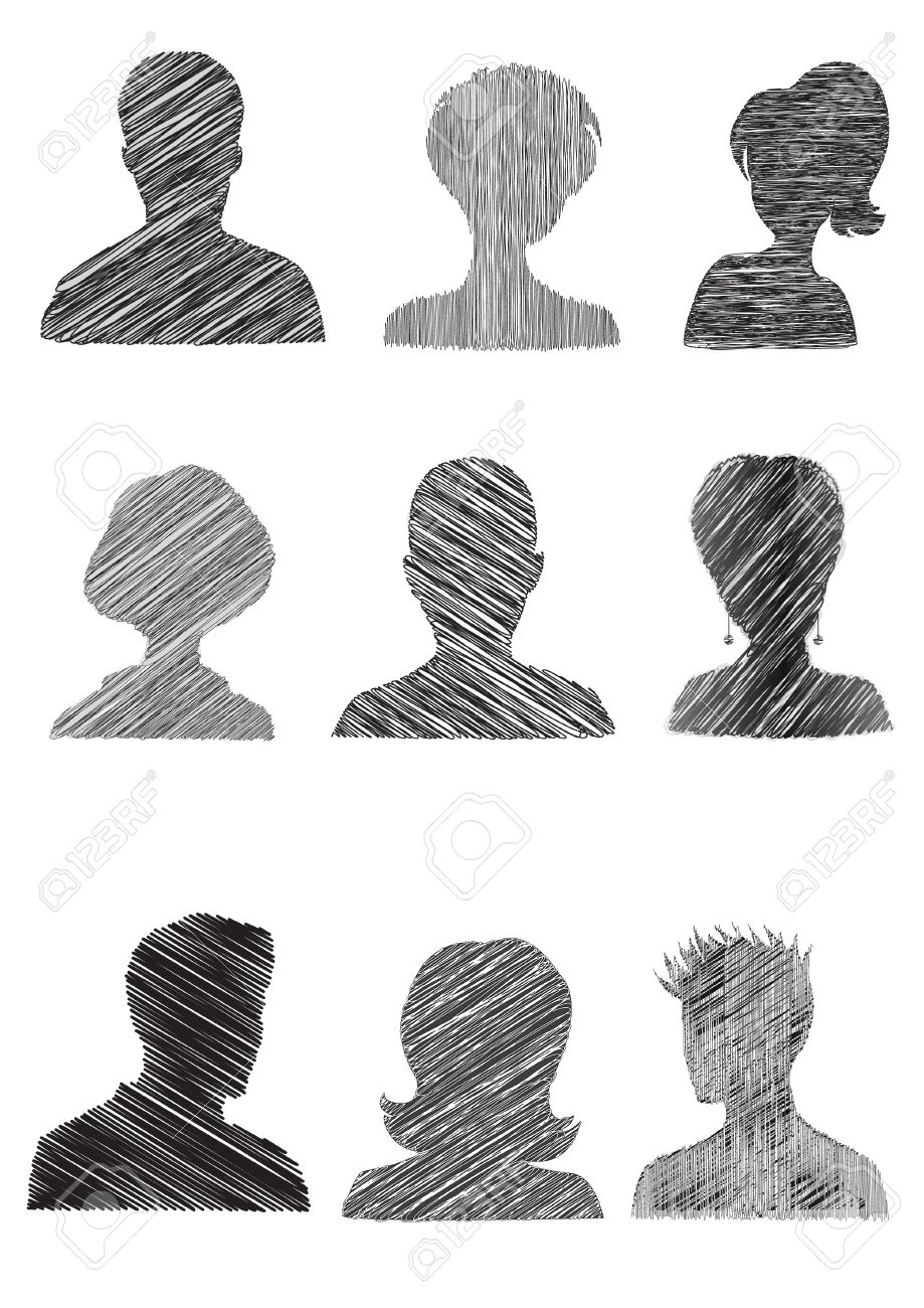Anonymous Mugshots with scribble effect - 11548734