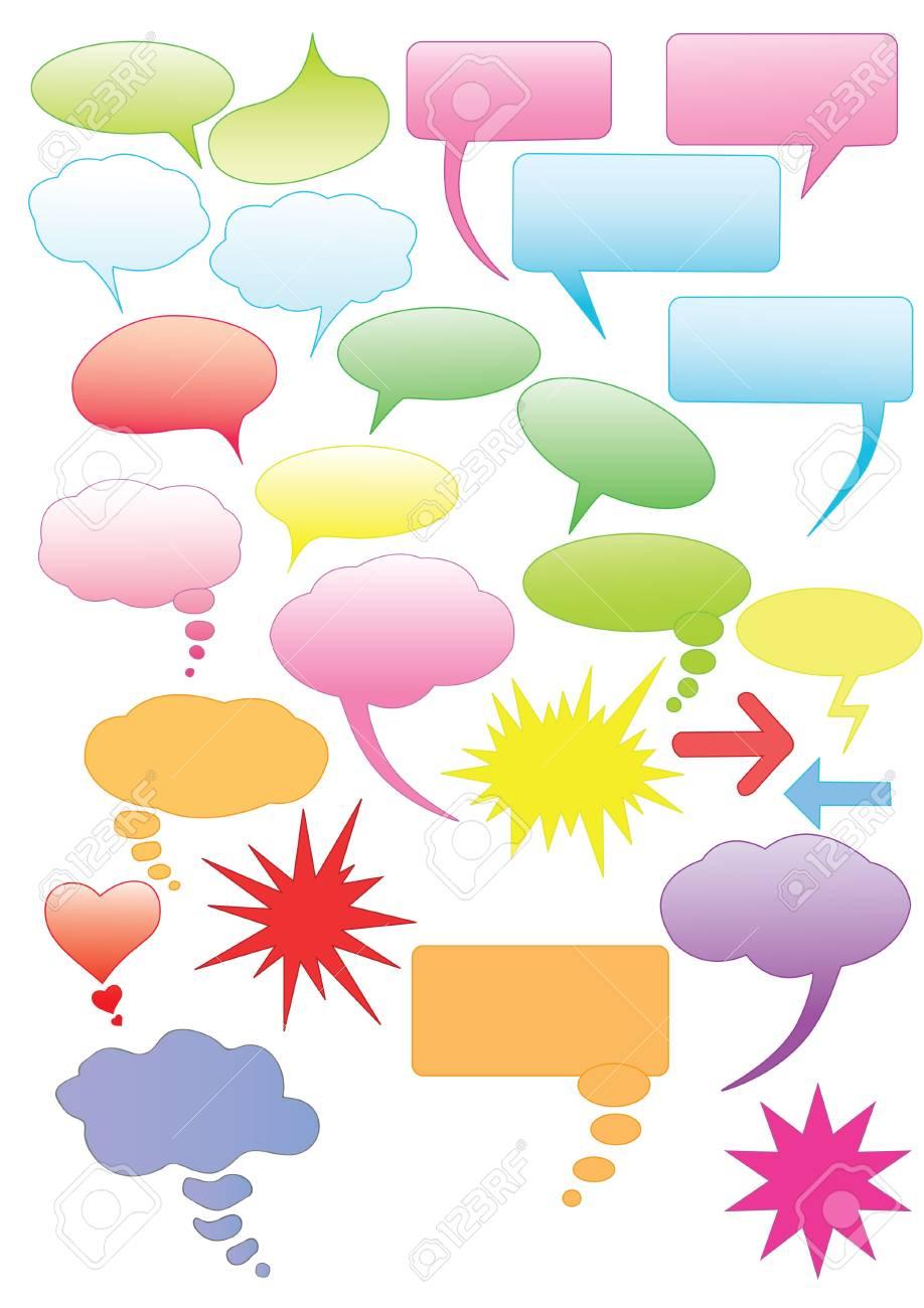 Set of colorful speech bubbles - 11862703