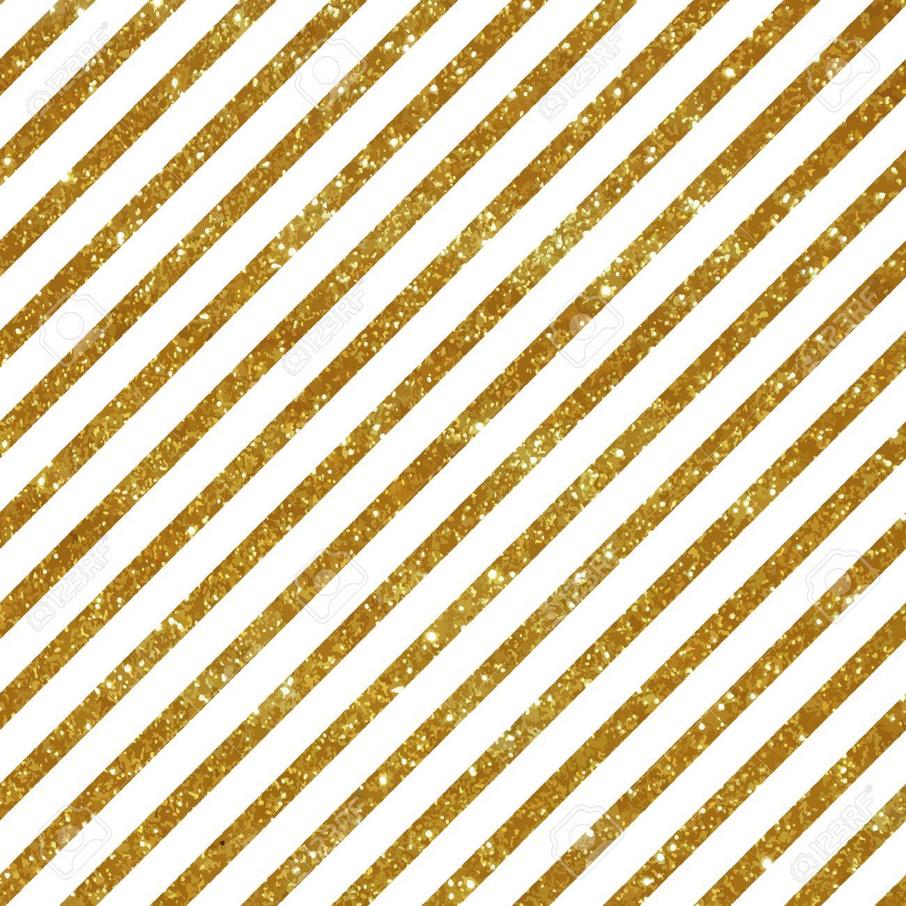 Seamless pattern with diagonal golden stripes. Glitter texture. - 40801692