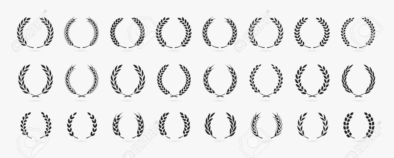 Simple laurel wreath icon set vector illustration - 152908333
