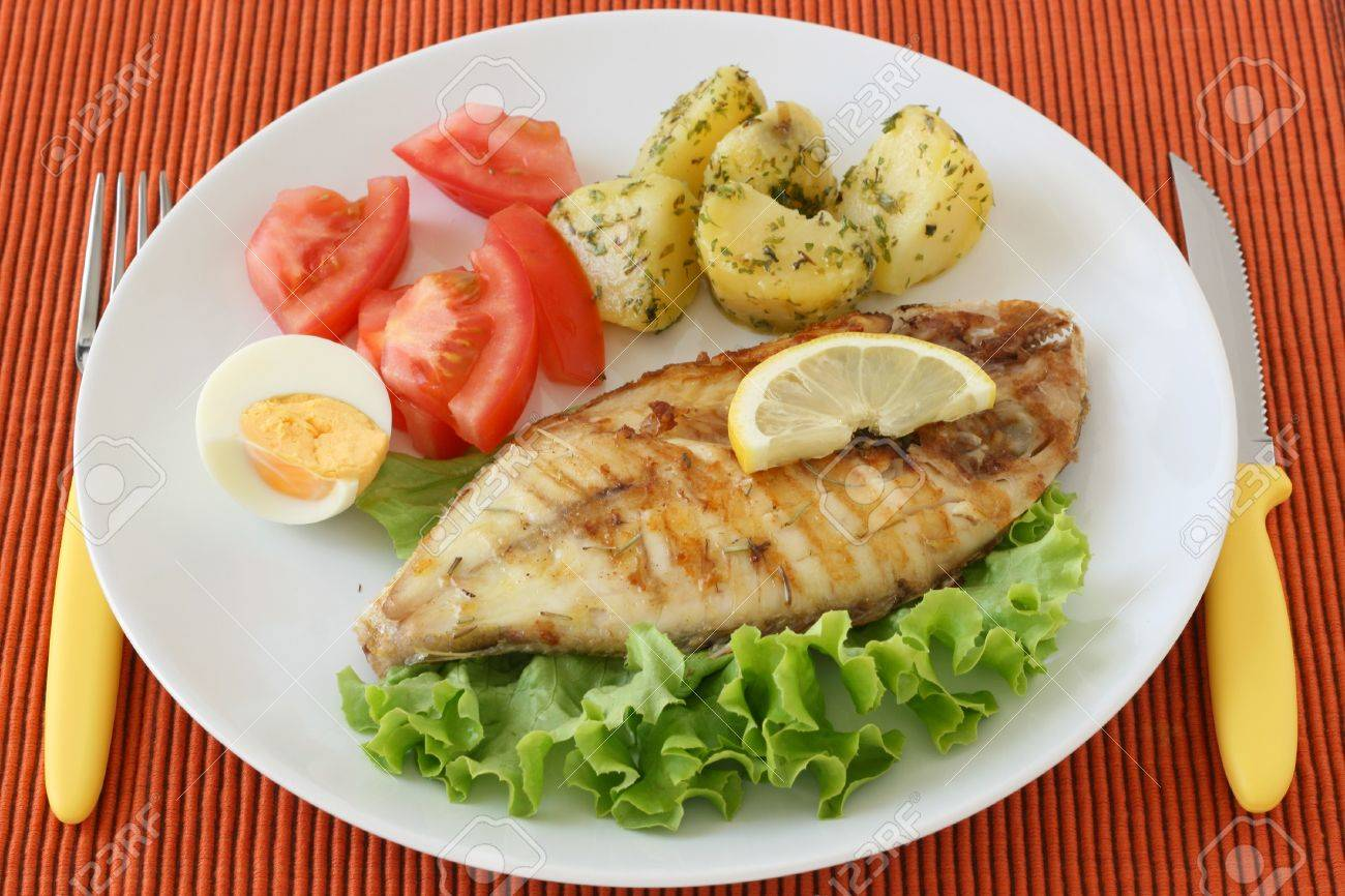 fried fish with potato Stock Photo - 10625209