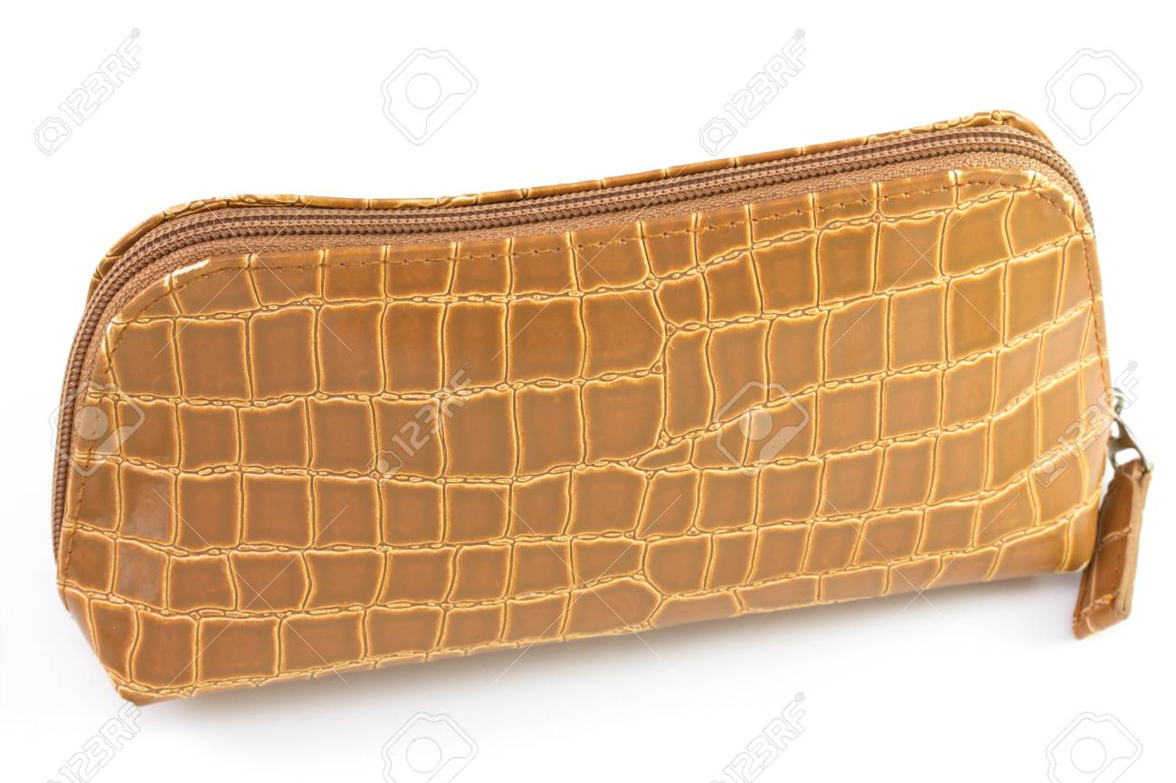 brown small bag on white background Stock Photo - 17317660