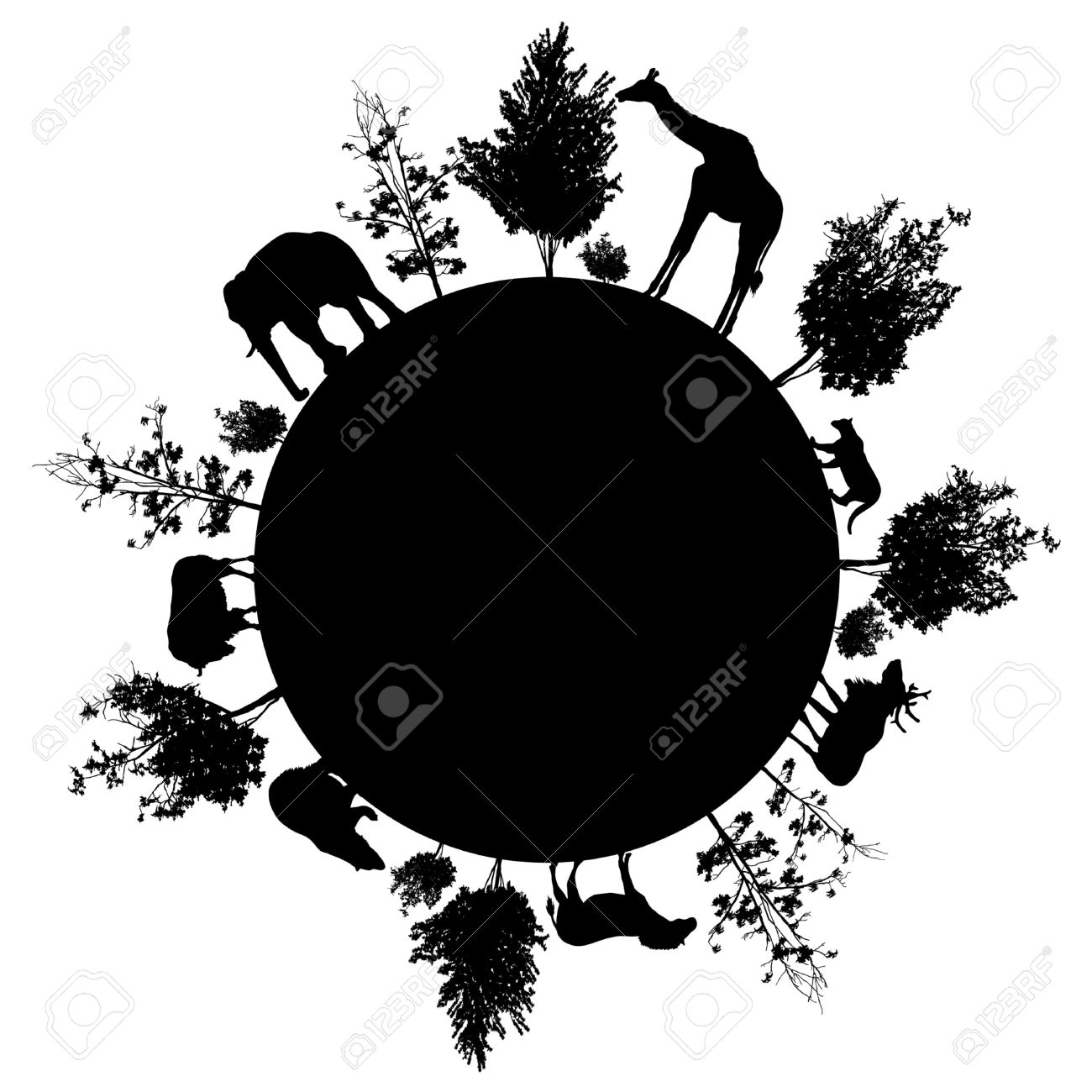 http://previews.123rf.com/images/nataliatoropova/nataliatoropova1410/nataliatoropova141000003/38231639-Silhouette-of-trees-and-wild-animals-walking-around-the-world-Stock-Vector.jpg