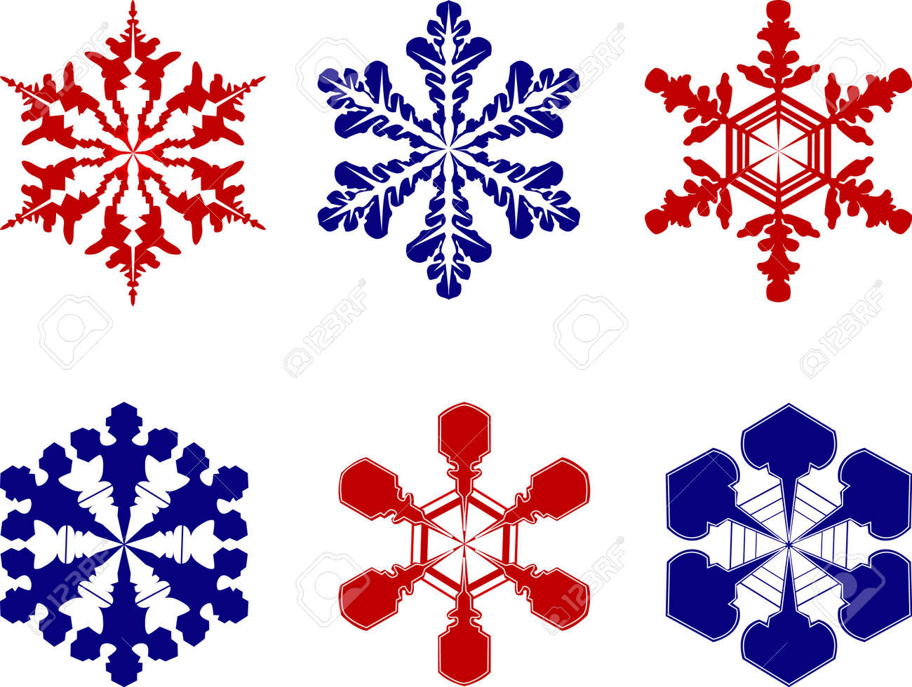 Different snowflakes Stock Photo - 399734