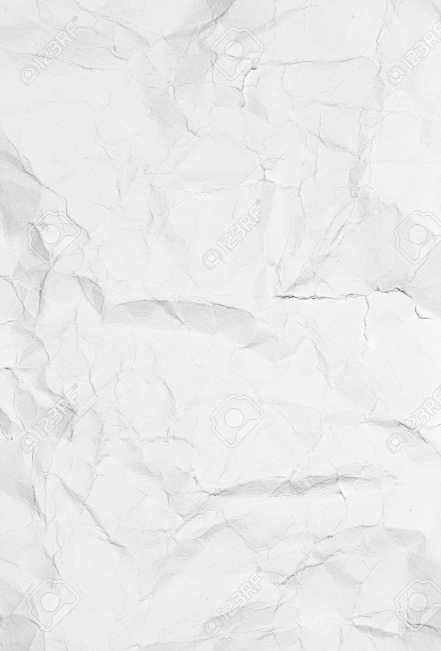 crumpled white paper background texture vintage craft paper stock