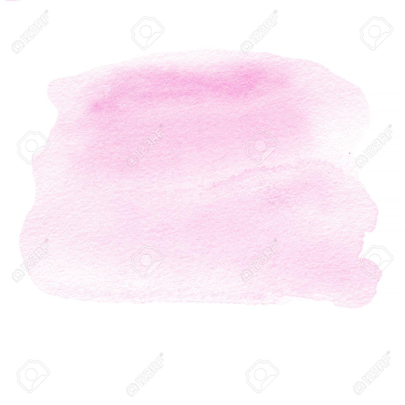 Tache D Encre Rose Aquarelle Tache Avec De La Peinture A L