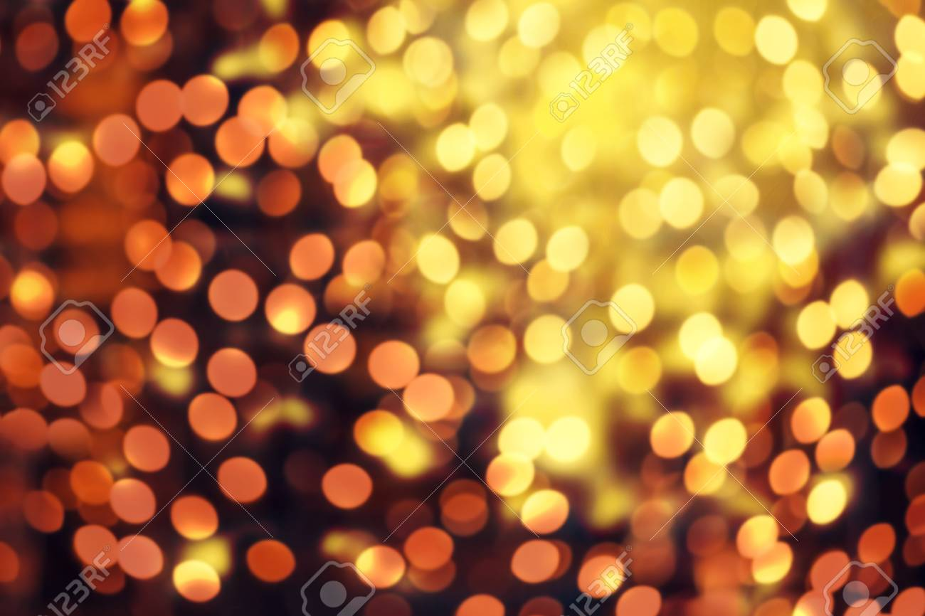 Christmas Elegant Abstract Background With Bokeh Lights And Stars Glitter Vintage Stock