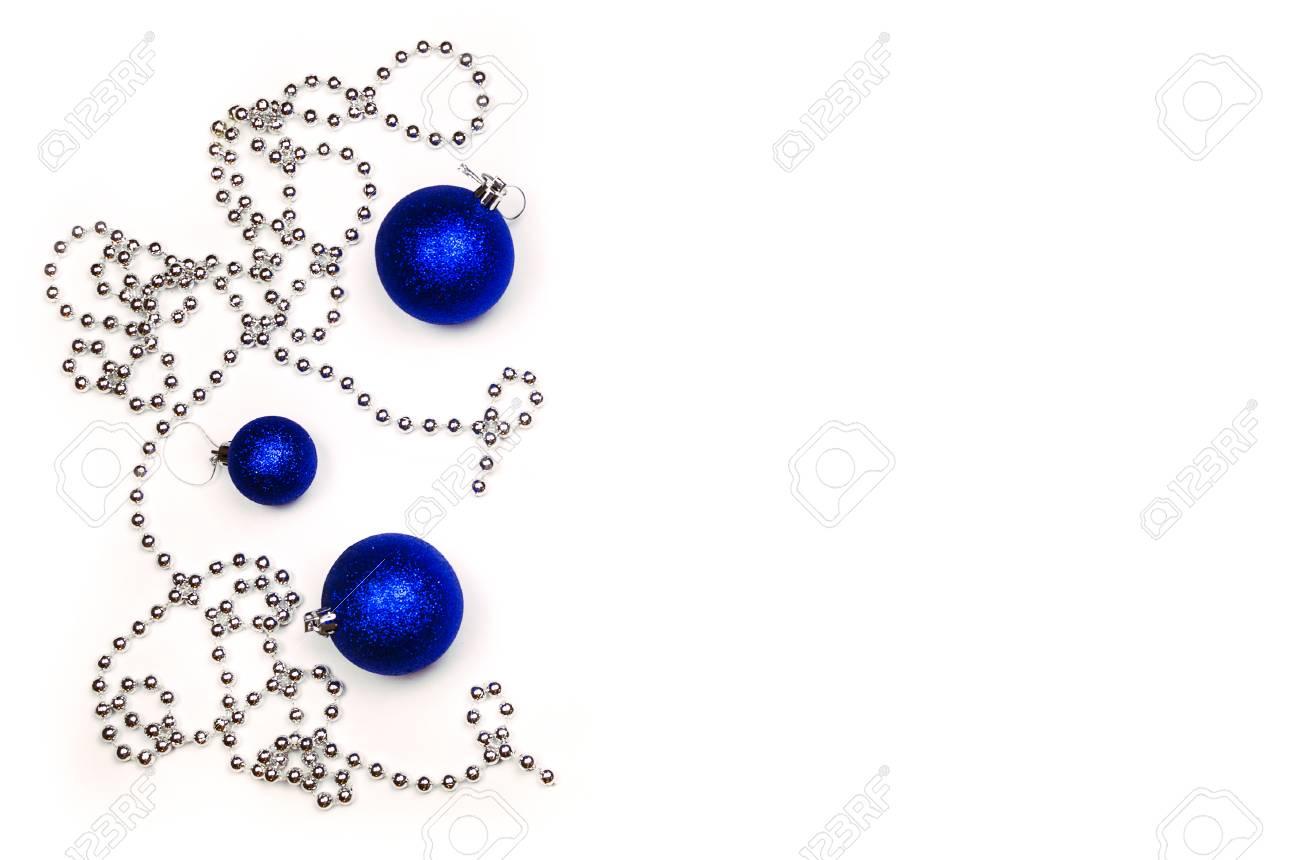Christmas Ball Garlands.Christmas Blue And Silver Garlands Blue Christmas Balls And
