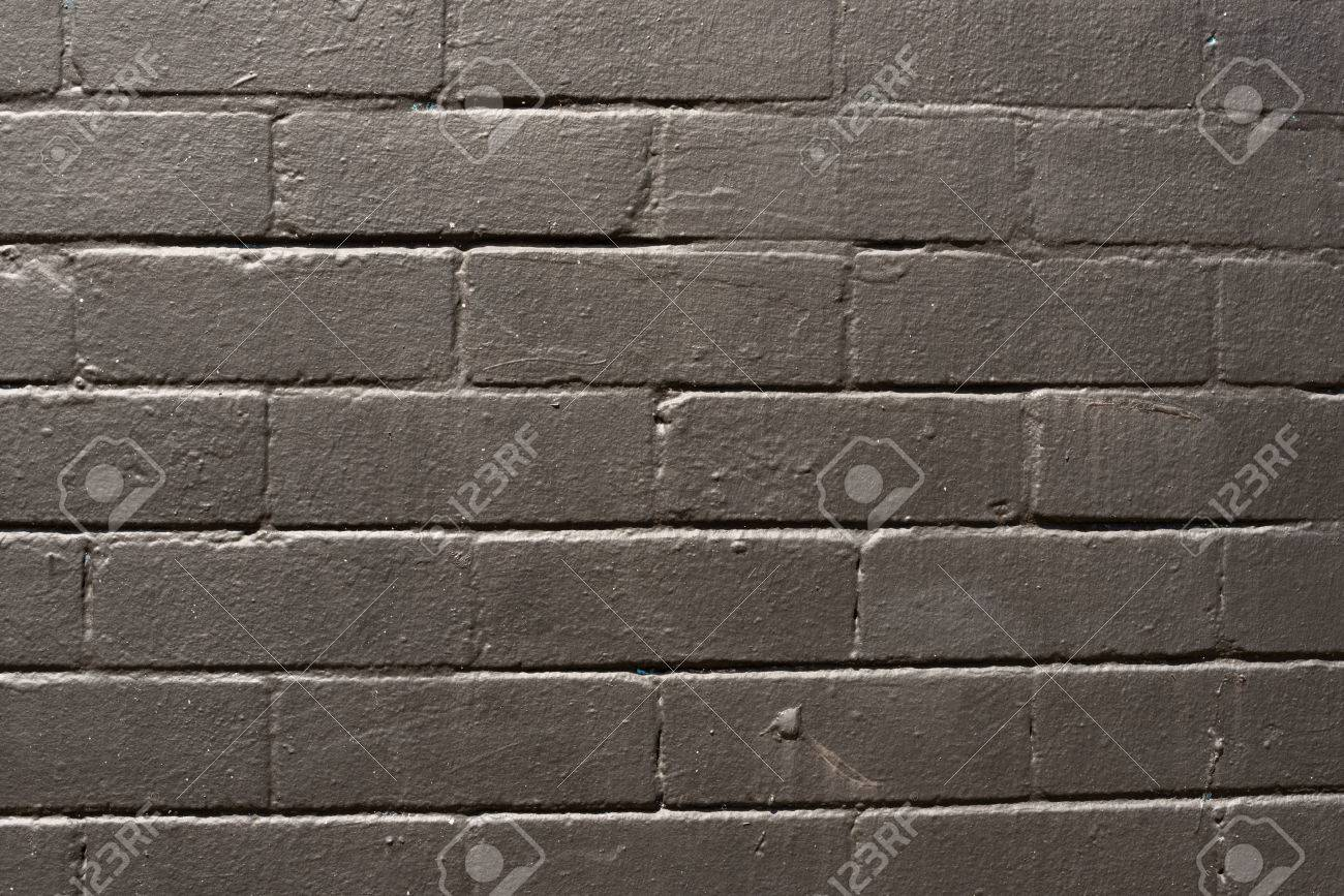 Imperfect, Aged, Black Painted Exterior Brick Wall Stock Photo   72366054