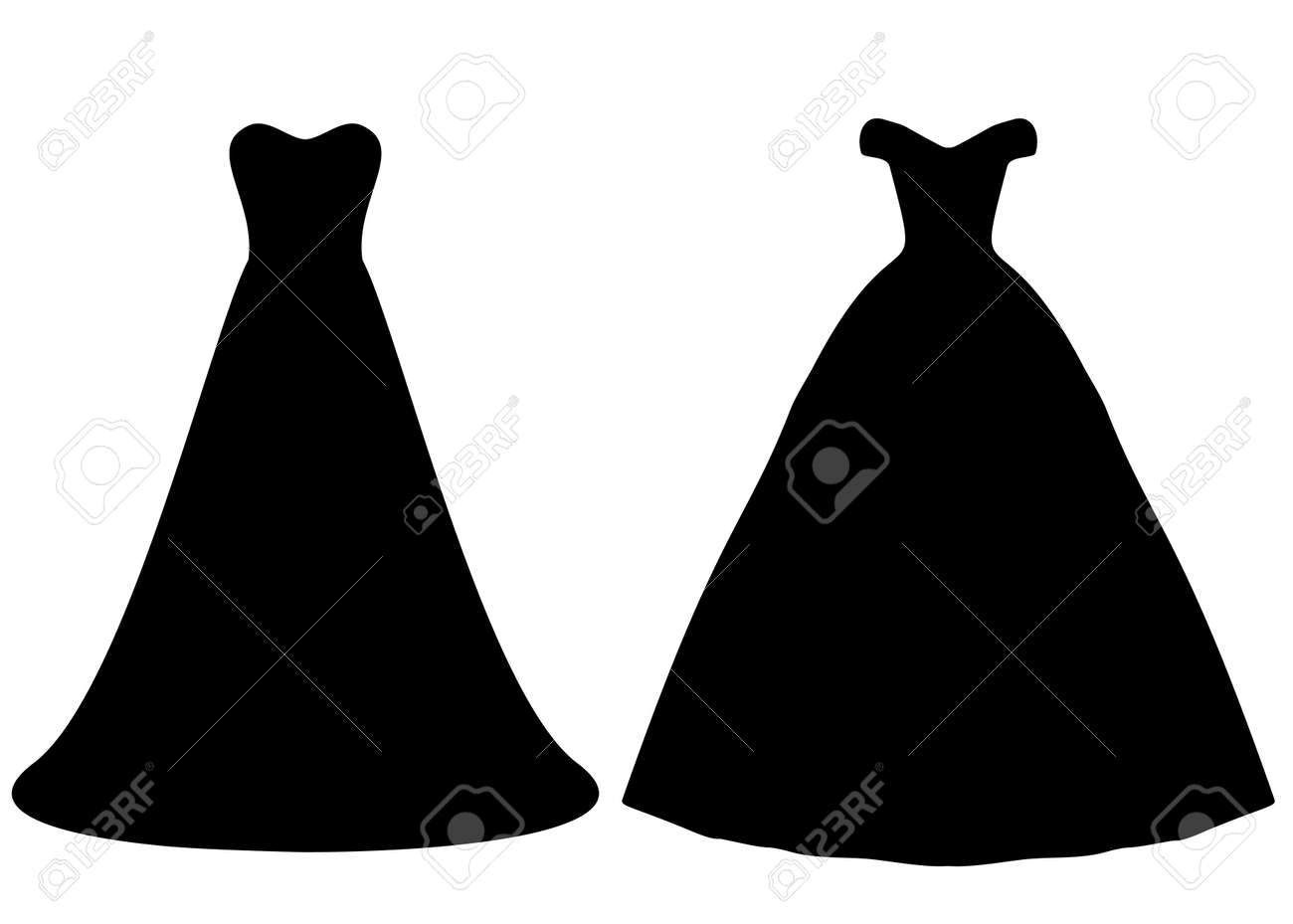 Long ballroom and wedding dresses for women in a set. - 166471875