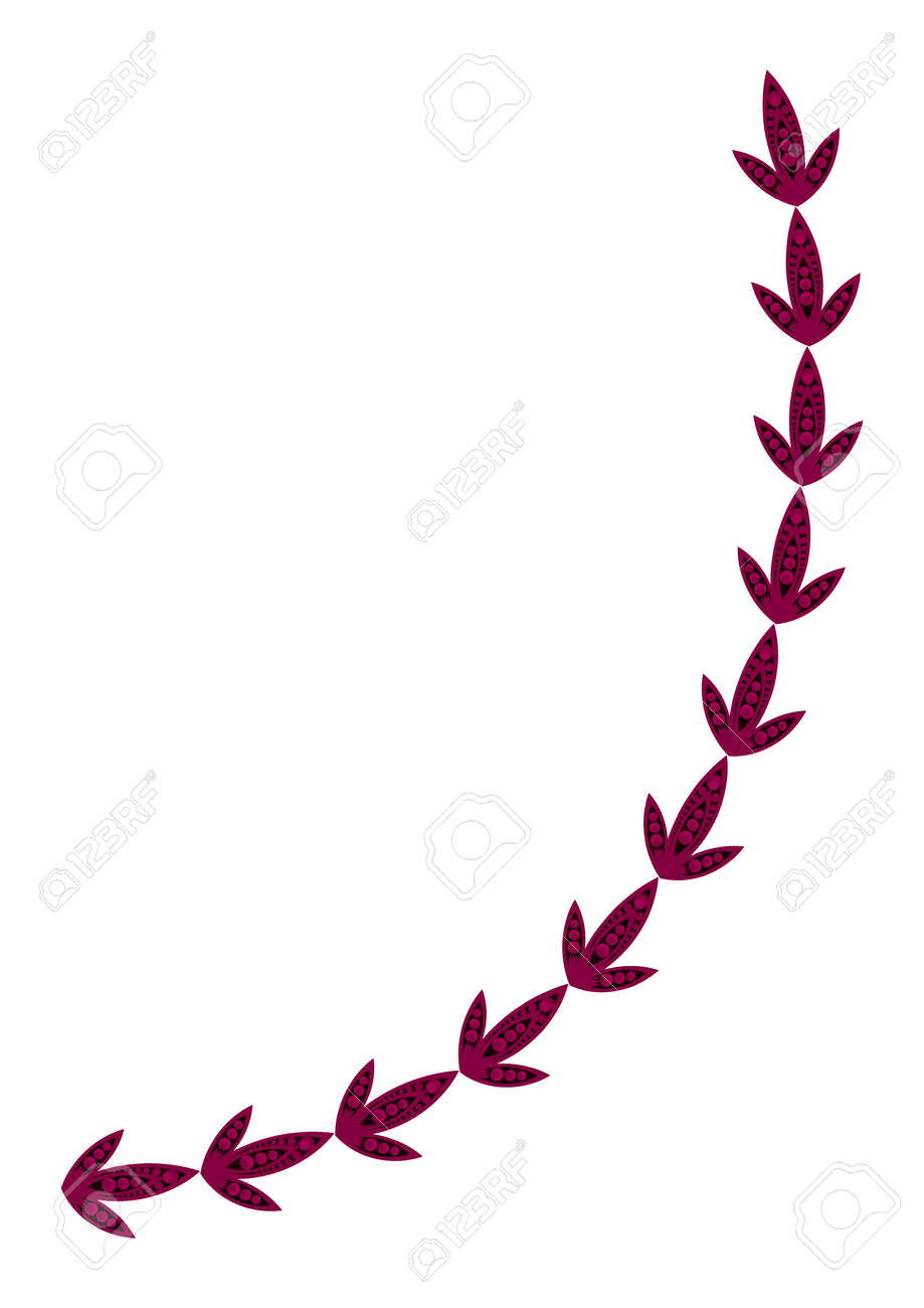 Frames of stylized leaves on a white background. A4 format, vertical illustration. Cover for a book or notepad, postcard, poster, design elements. Plants, leaves. - 167835974