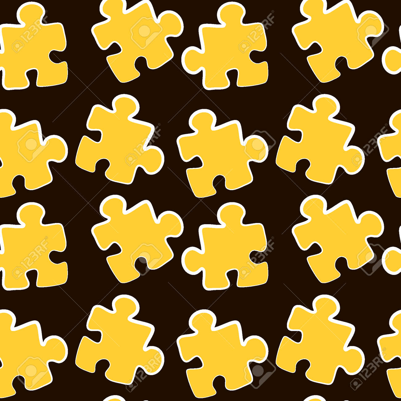 Illustration - Seamless texture, pattern - puzzles. Minimalism, pastiche. Background for a website or blog, wallpaper, textiles or packaging. - 170610130