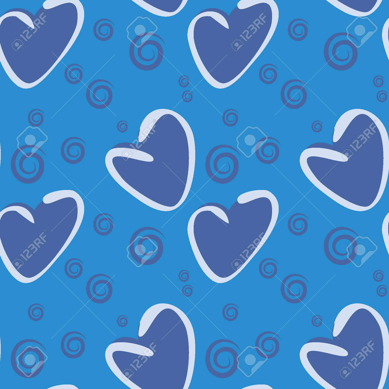 Seamless pattern, endless texture on a square background - stylized hearts - color graphics. A fabulous world of love. Surreal. Design elements. Background for website, blog, wallpaper, textiles, packaging. - 170357199