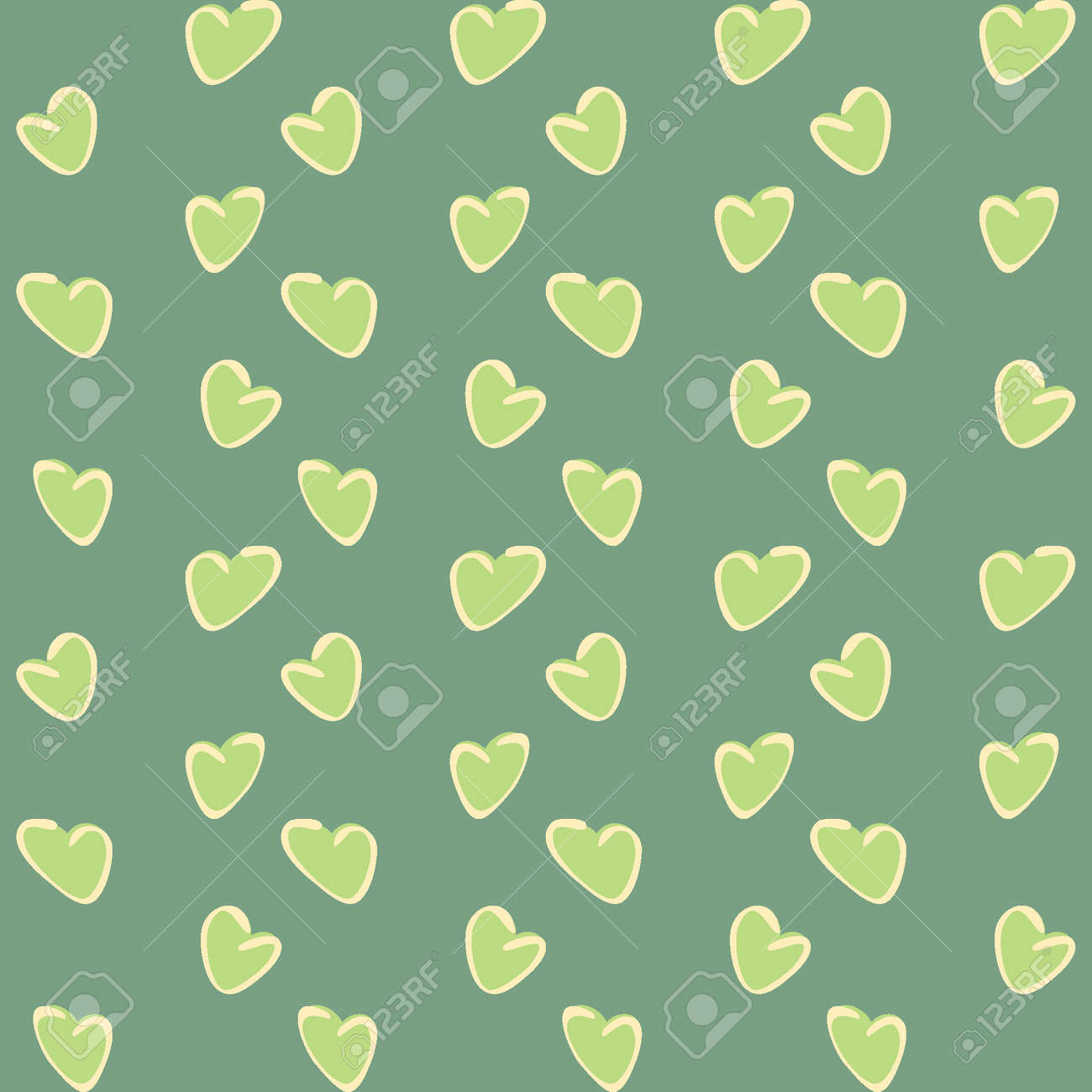 Seamless pattern, endless texture on a square background - stylized hearts - color graphics. A fabulous world of love. Surreal. Design elements. Background for website, blog, wallpaper, textiles, packaging. - 170357317