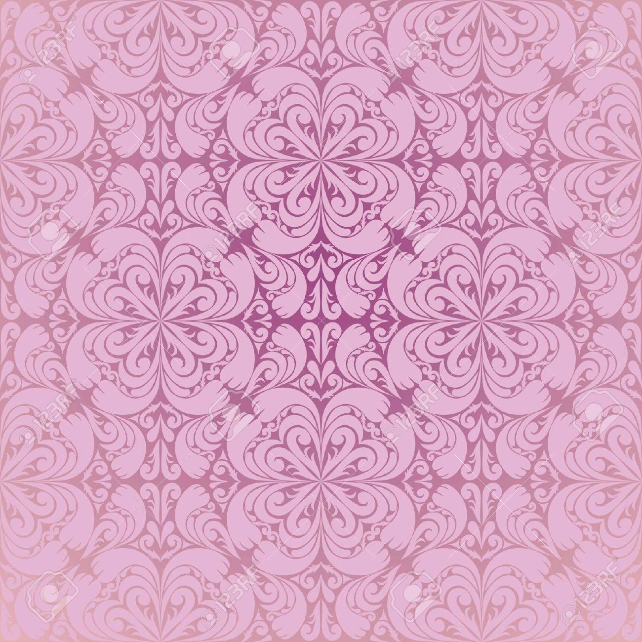 Seamless pink wallpaper - 13026251