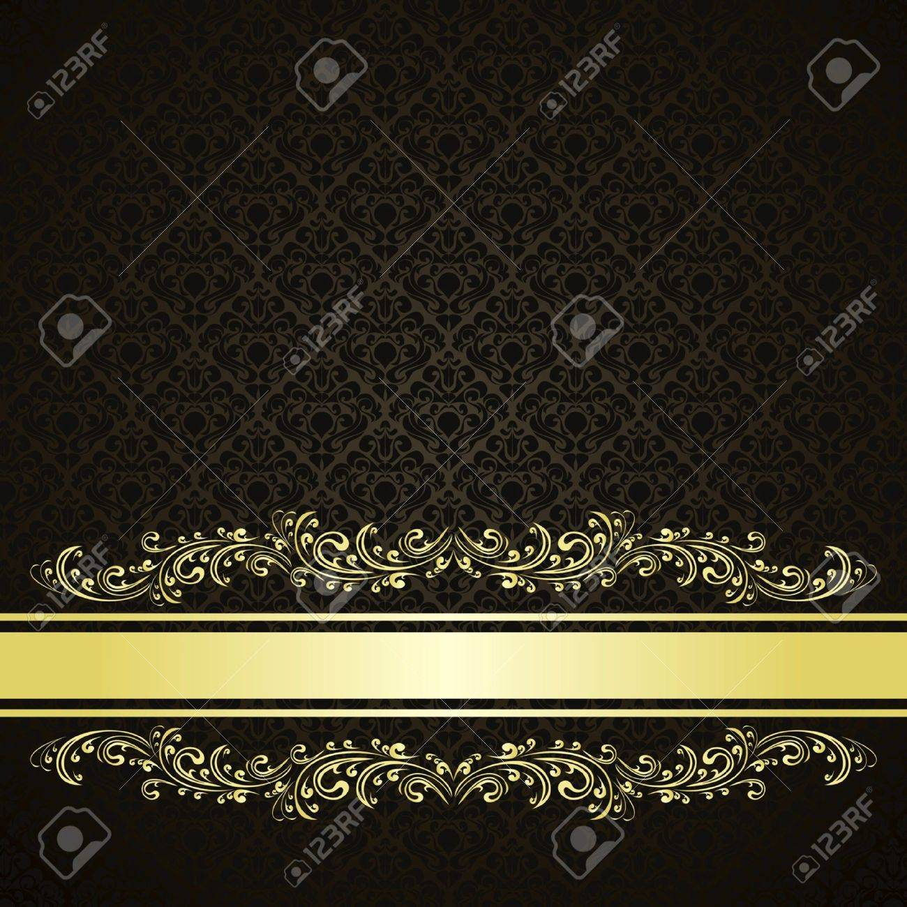 Luxury charcoal Background decorated a Vintage ornament Stock Vector - 14294266