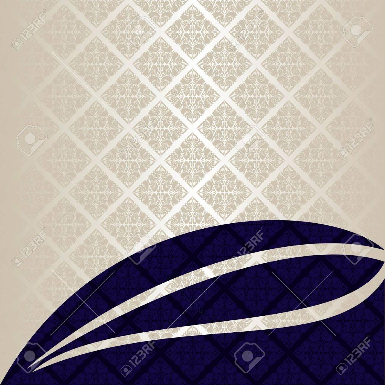 Luxury Background silver and dark blue EPS 10 - 14420532