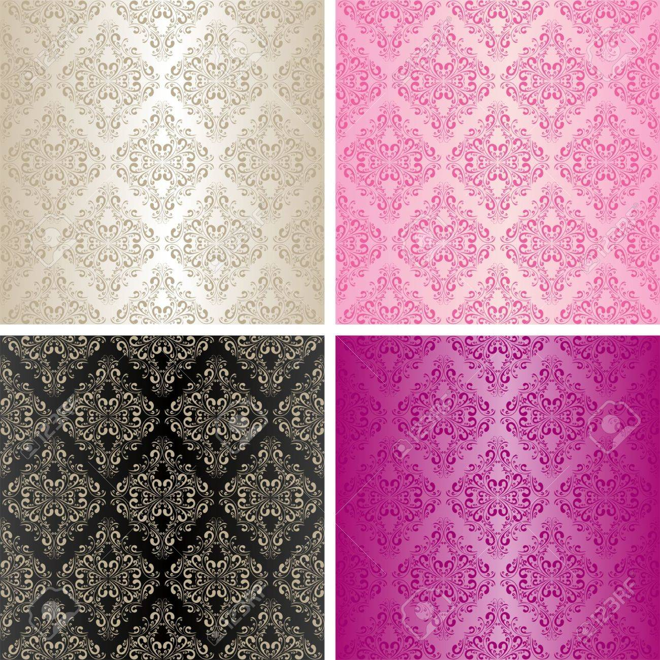 Seamless wallpapers - set of four colors - 15780671