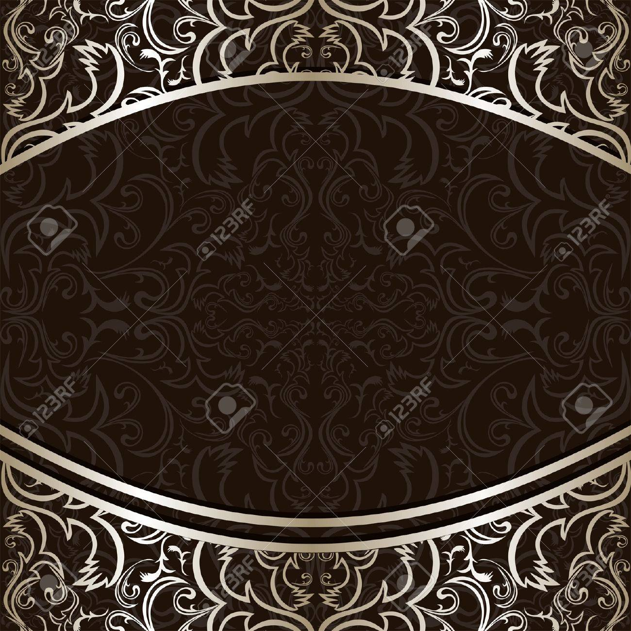 Luxury Background decorated by ornamental silver borders. - 18022746