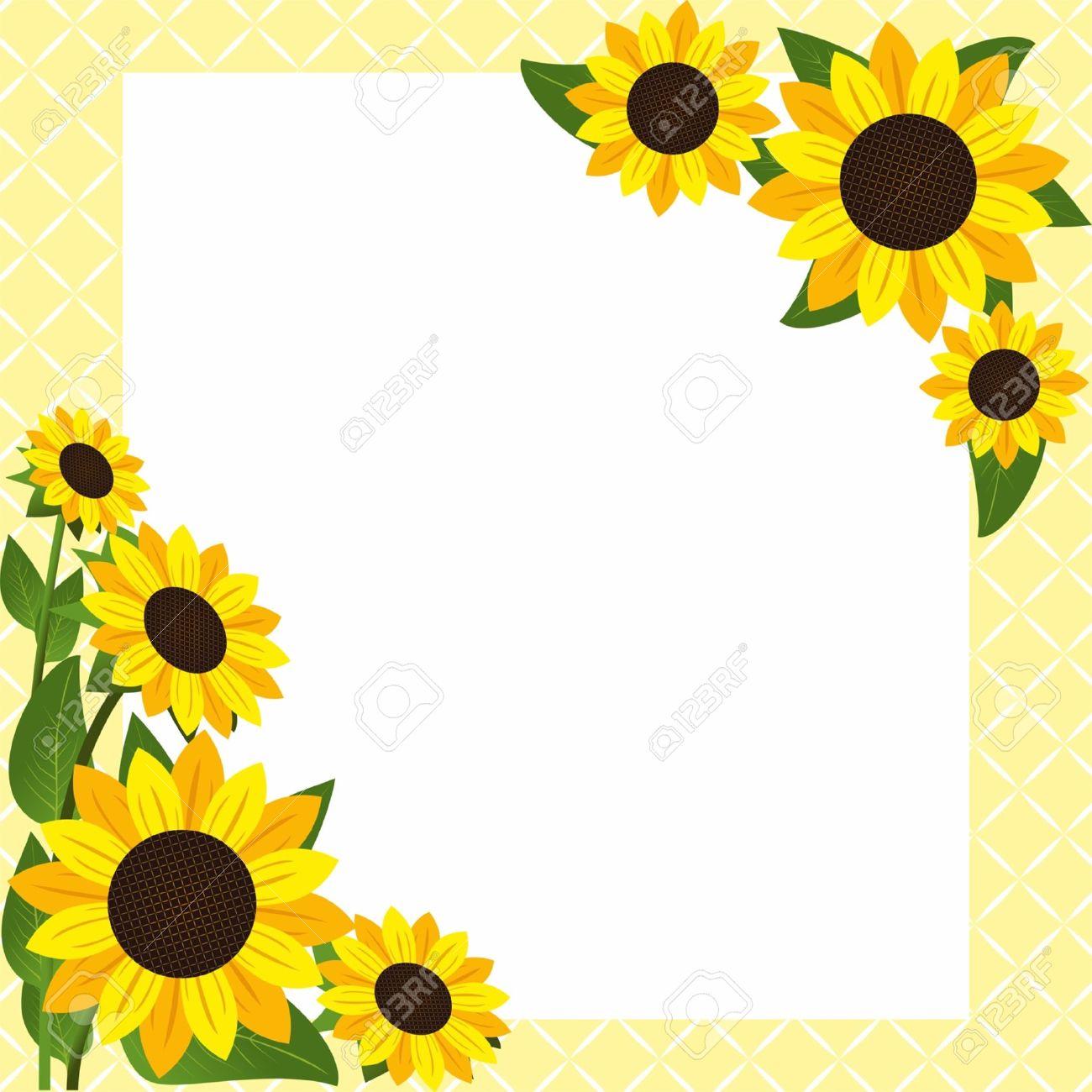 ひまわりで花のフレーム ロイヤリティフリークリップアート、ベクター
