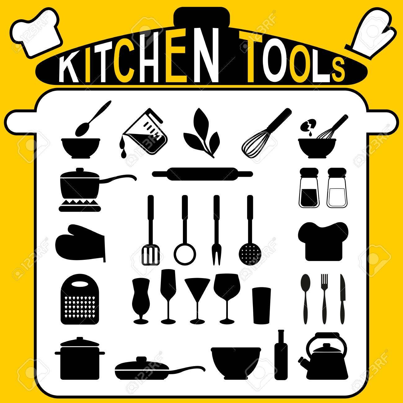 Kitchen tools - icons set - 22627068