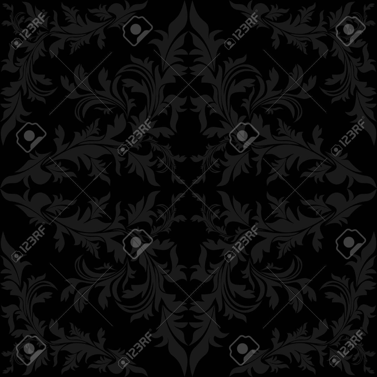 Seamless floral charcoal Pattern - 22956508