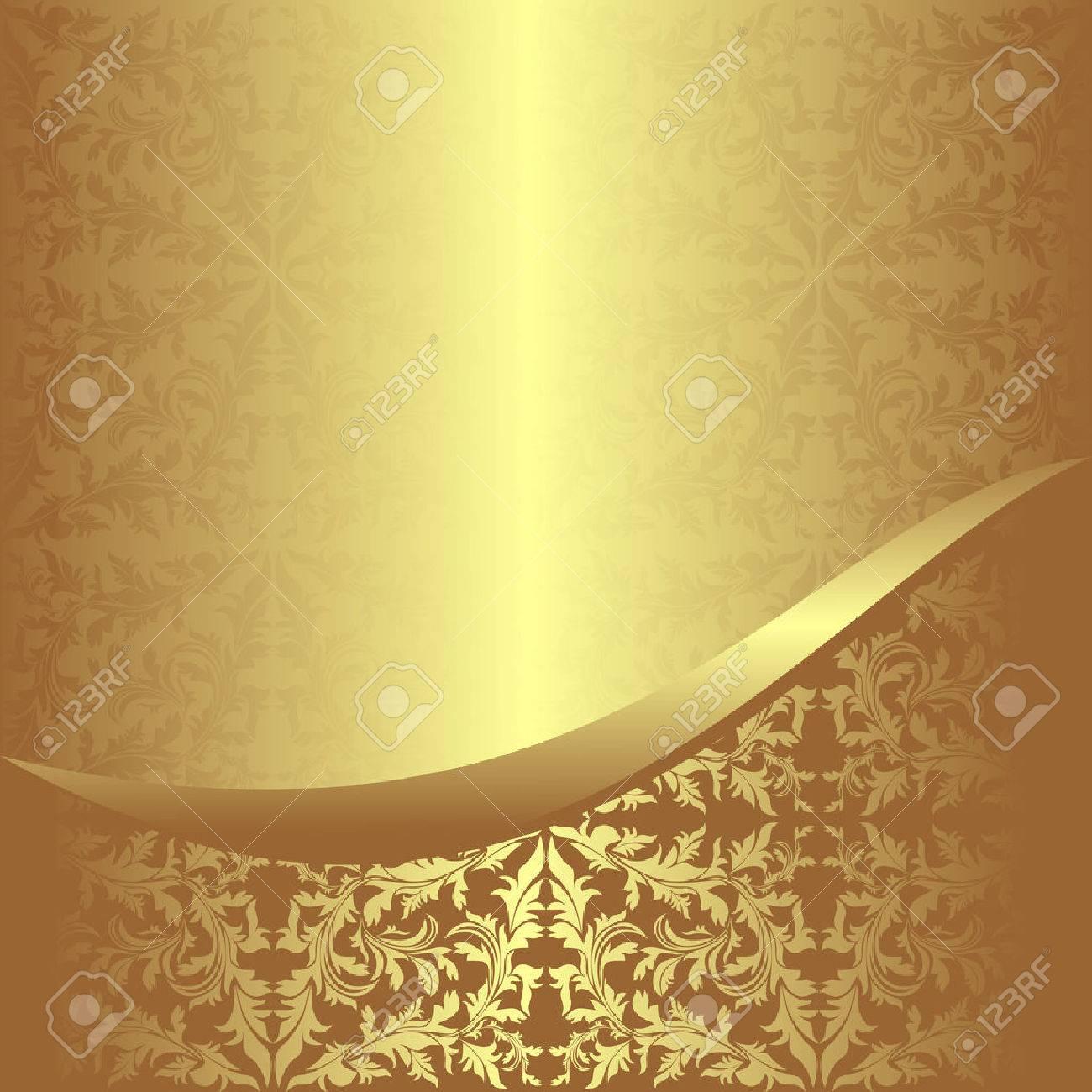 Luxurious golden ornamental Background - 22956511