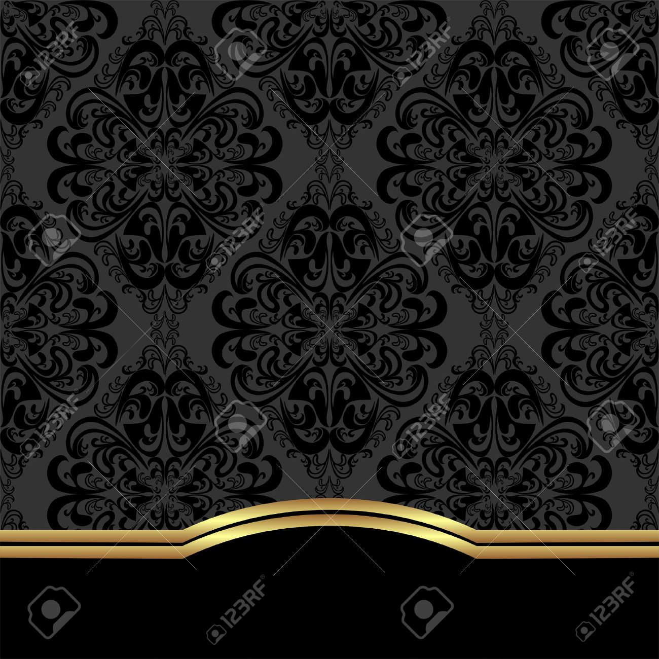 Elegant ornate Background with border for design. - 41198378