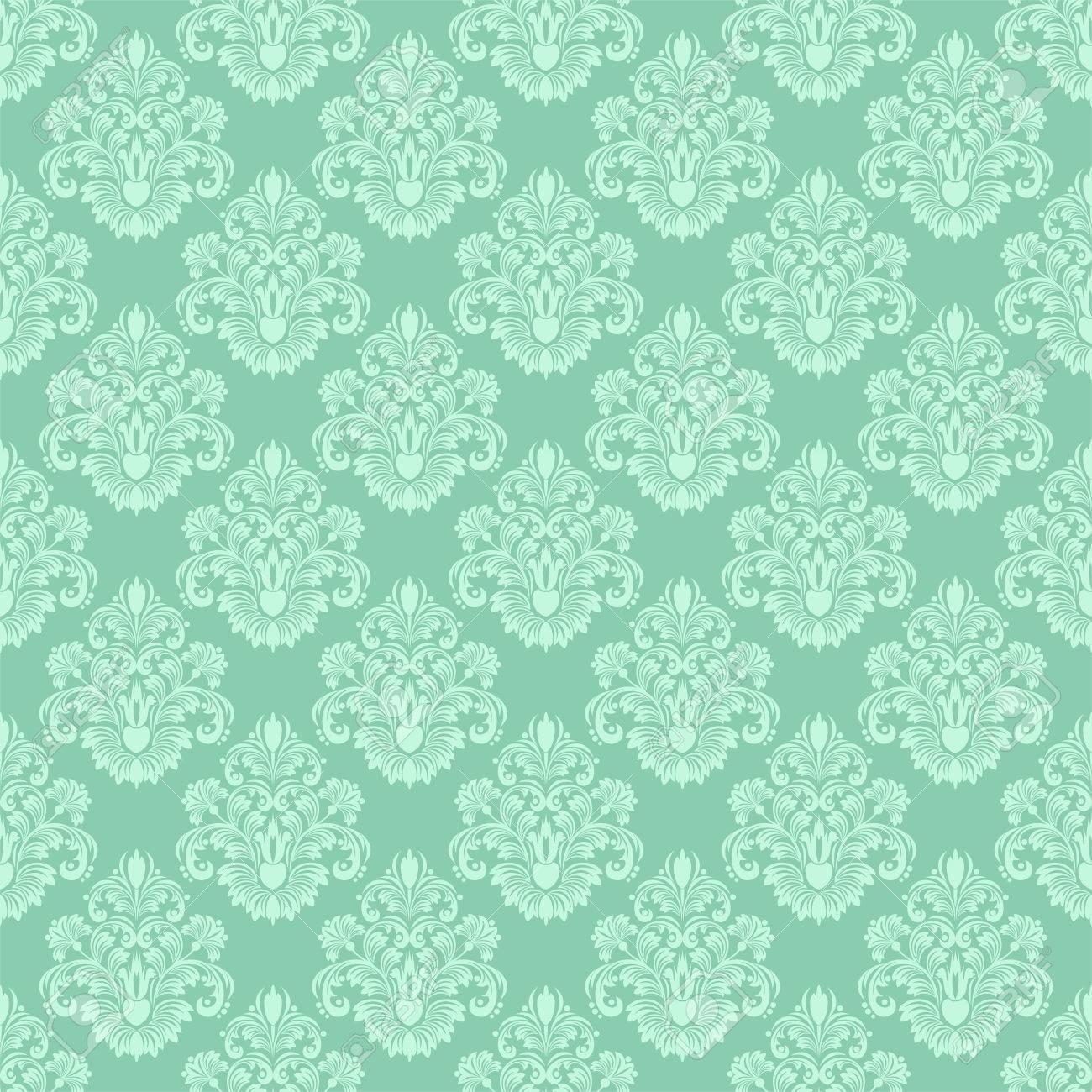 Damask seamless floral ornamental Wallpaper for design - 41658804