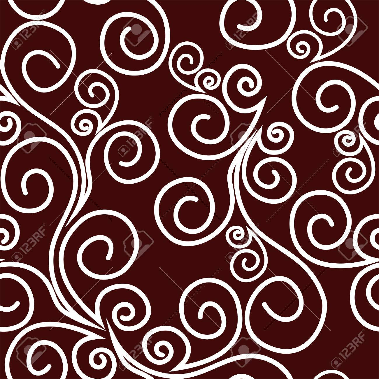 Seamless ornate Pattern with Swirls - 41658810