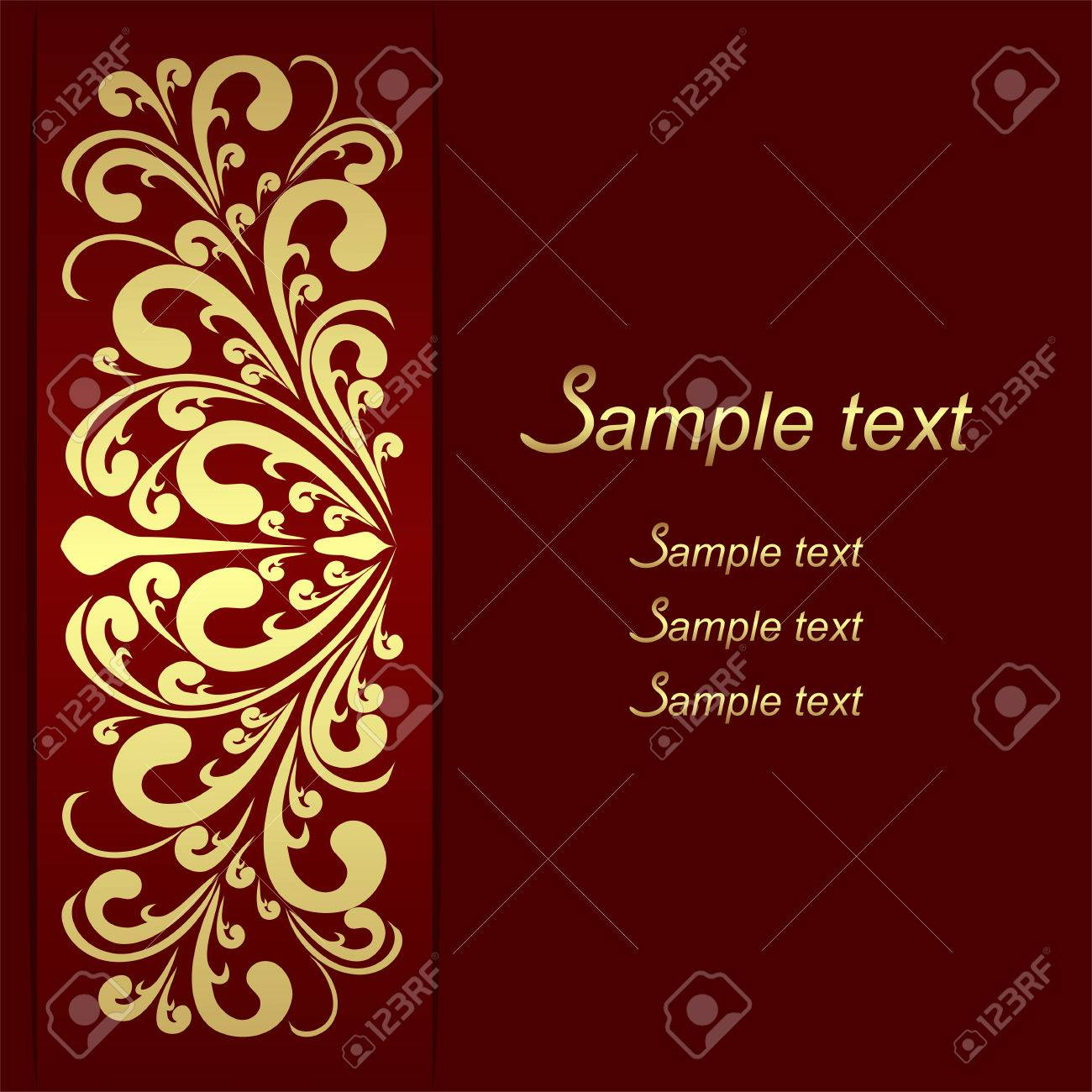 Luxury Background With Ornamental Golden Border