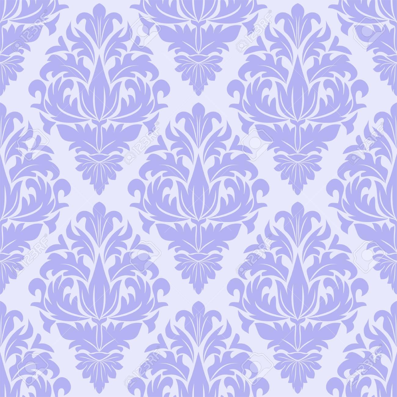 Seamless blue ornamental Pattern for Design - 97509673