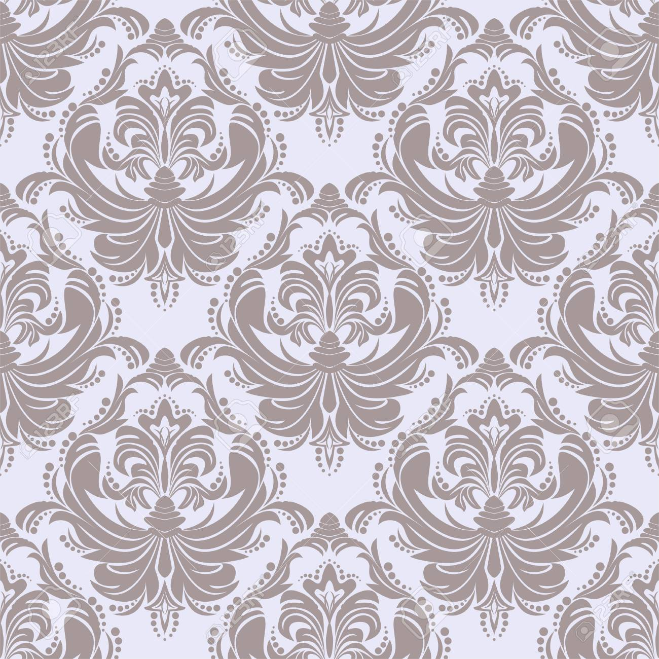 Seamless retro damask Wallpaper for Design - 103610139