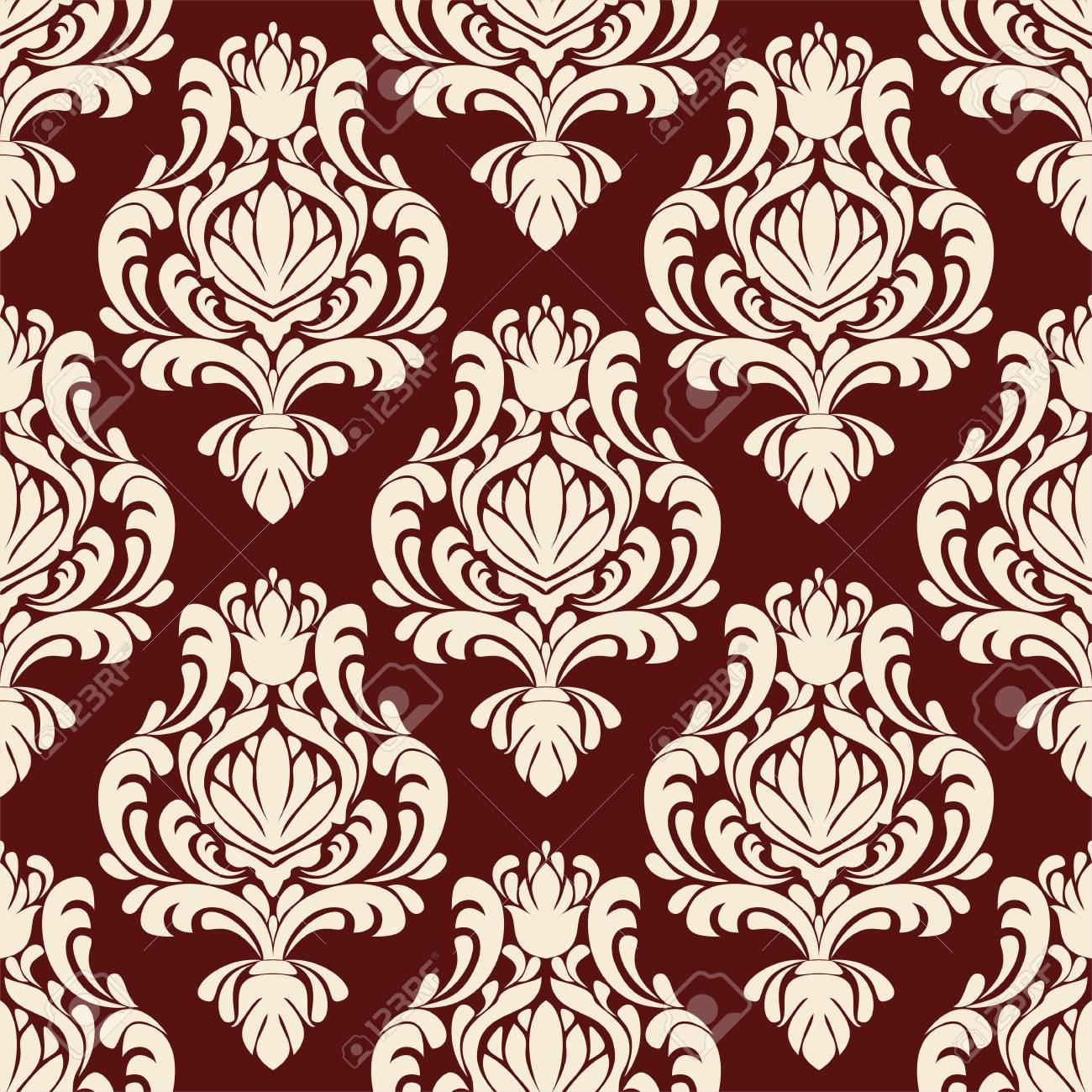 Rich ornamental damask Wallpaper for design - 103610163