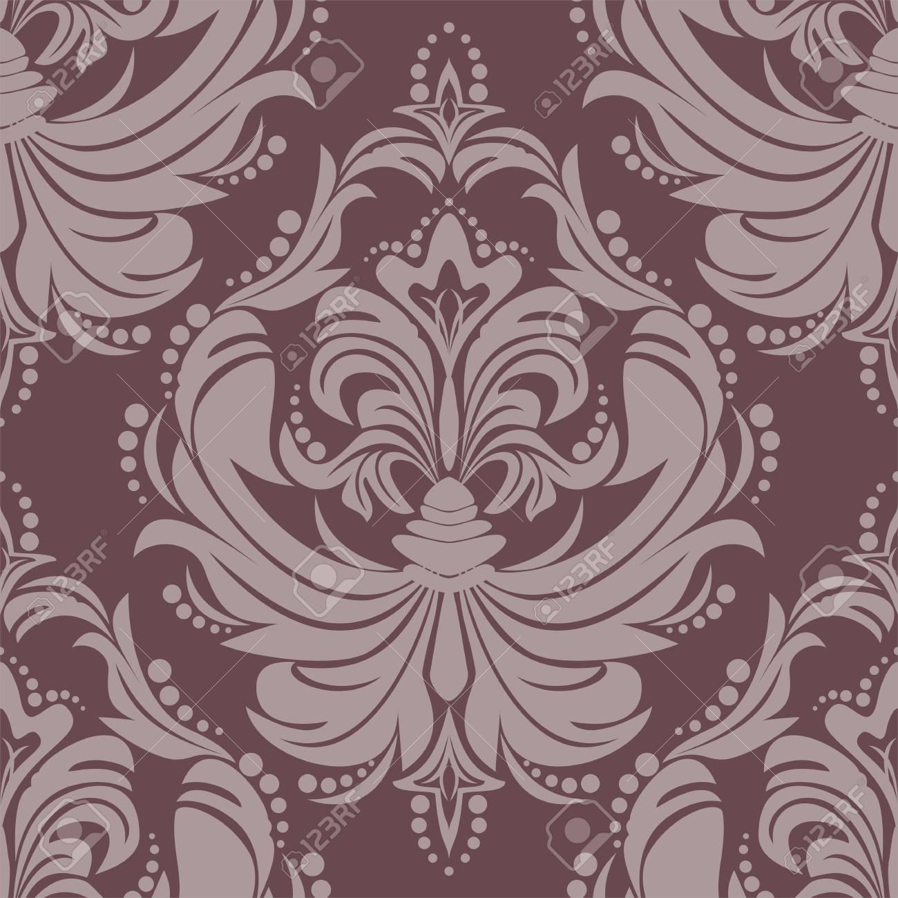 Seamlees damask floral Ornament for design - 97509751