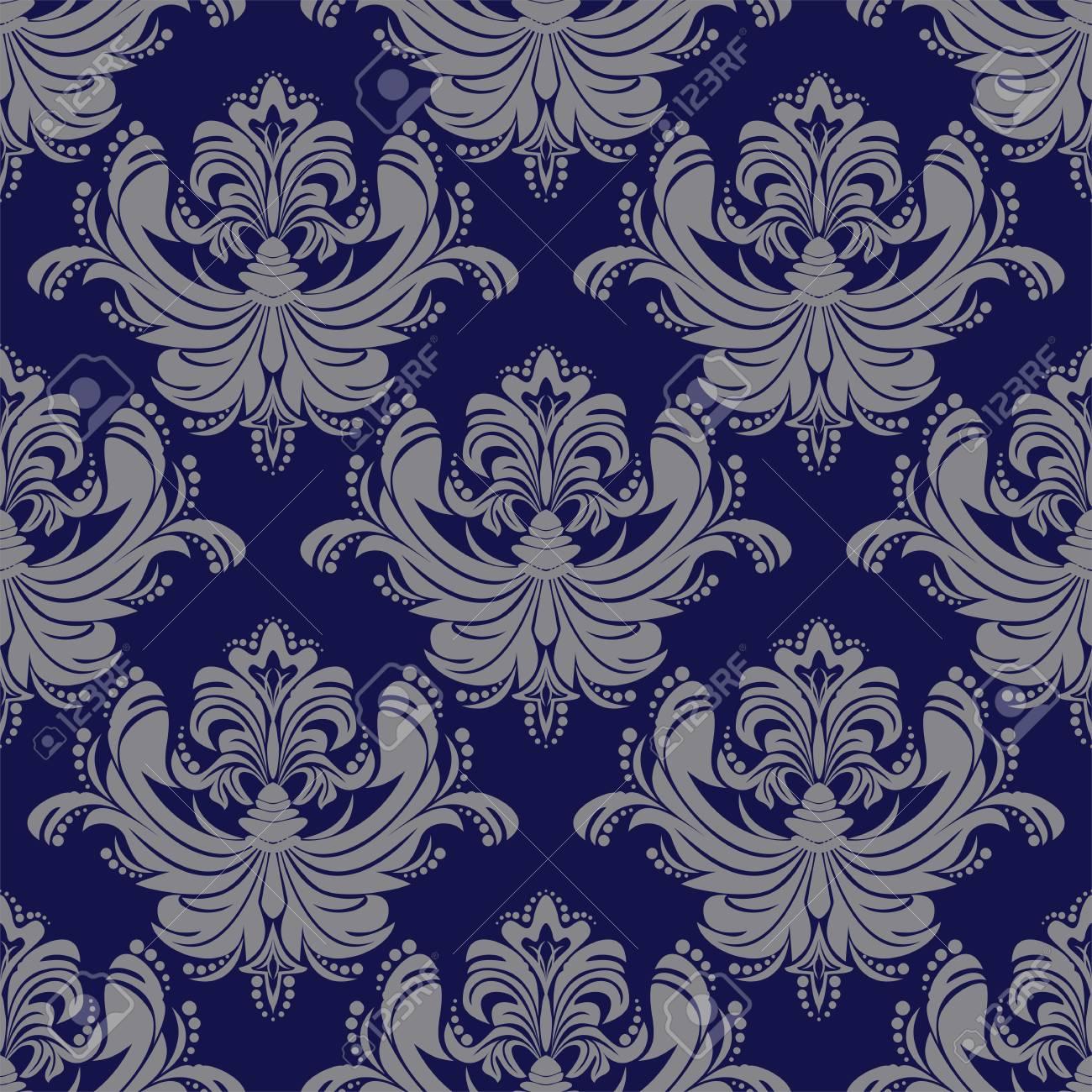 Seamless ornate damask Wallpaper. - 103610979
