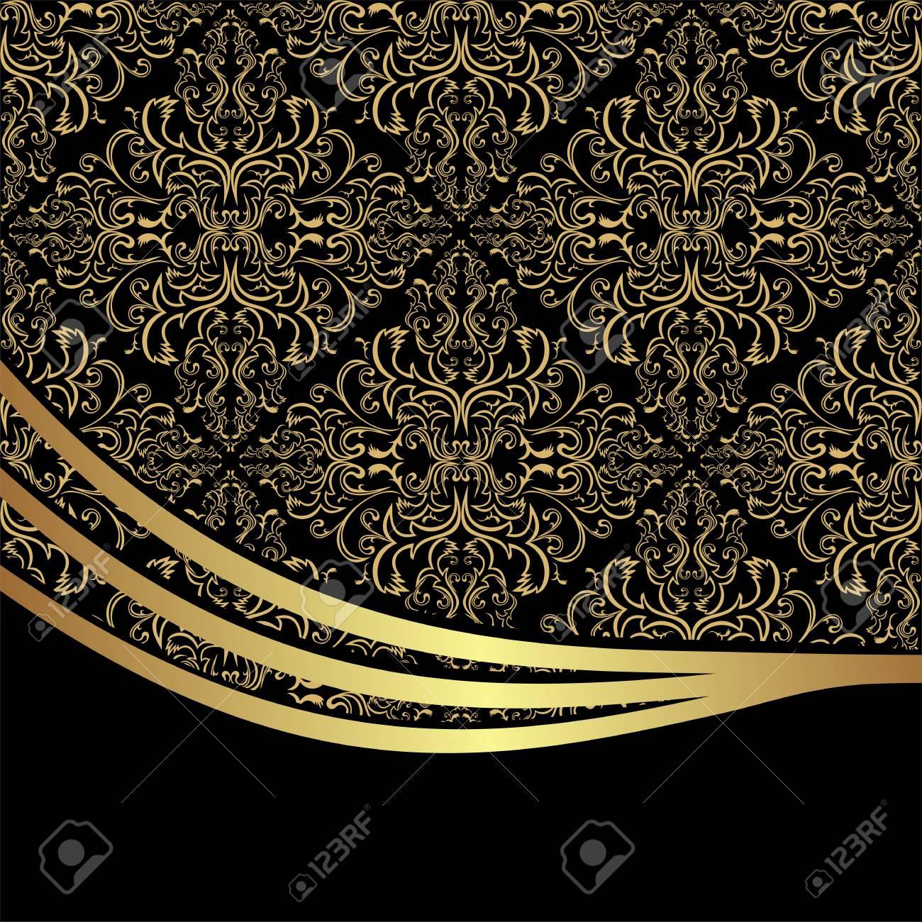 Luxury ornamental Background decorated the elegant Border - 97509762