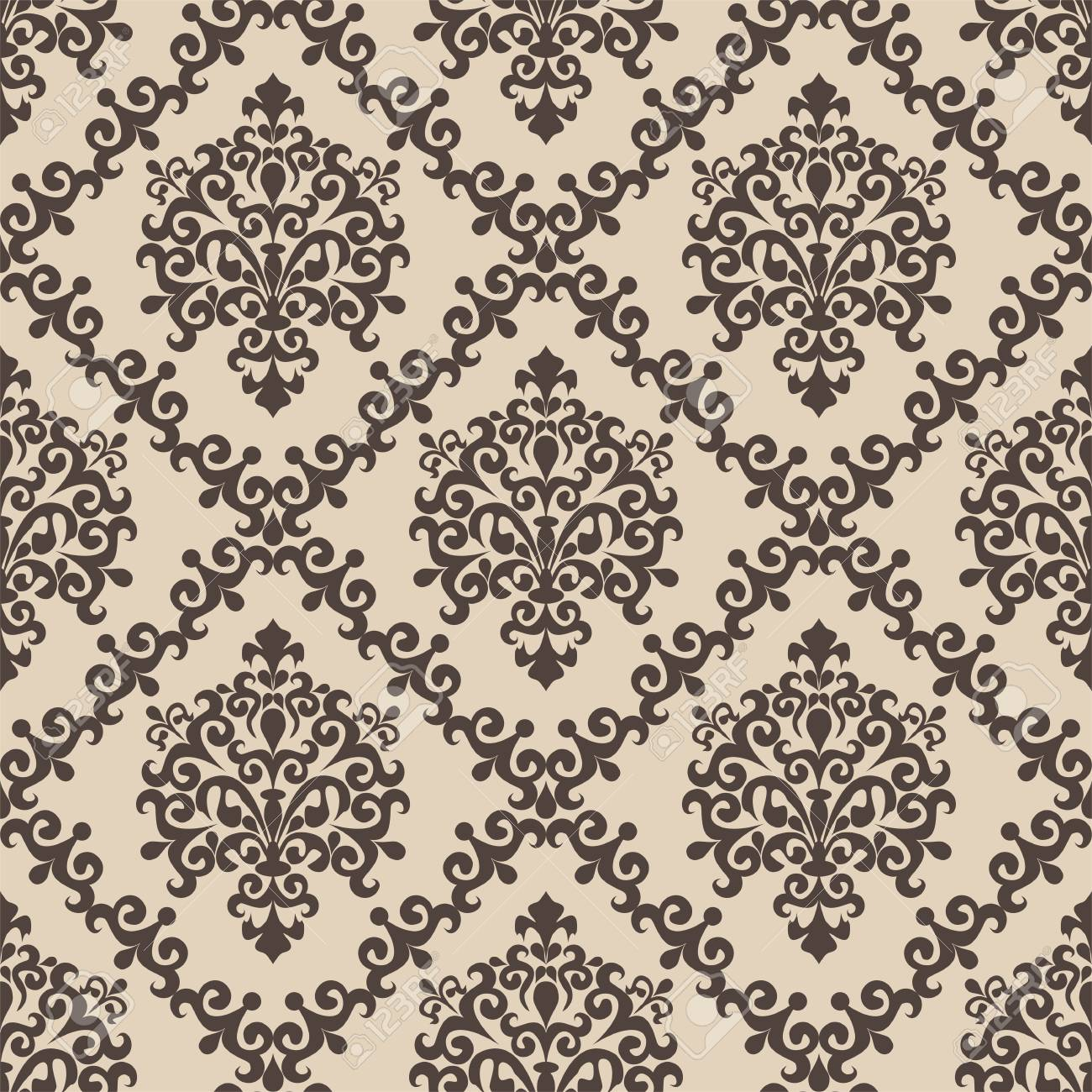 Seamless damask Pattern for Design - 98385588