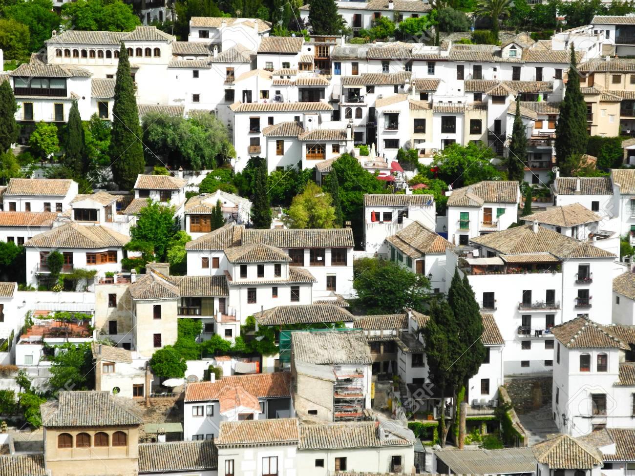 Granada, Spain  Albaicin - Moorish medieval quarter panoramic