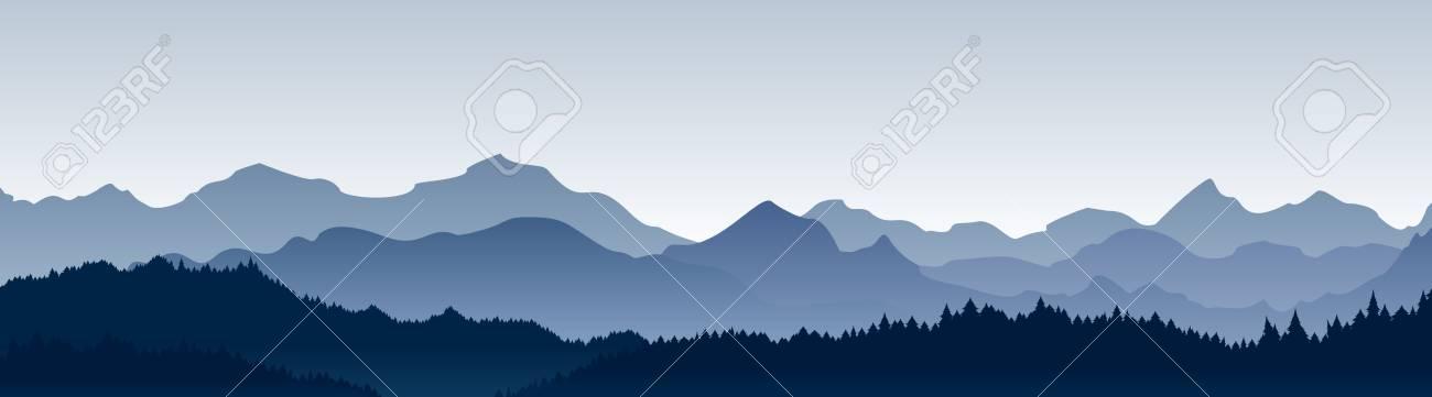 Vector illustration of beautiful panoramic view. - 97610086