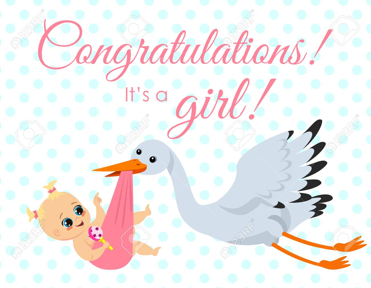 Congratulations On Your New Baby Girl Congratulation Weekender Tote