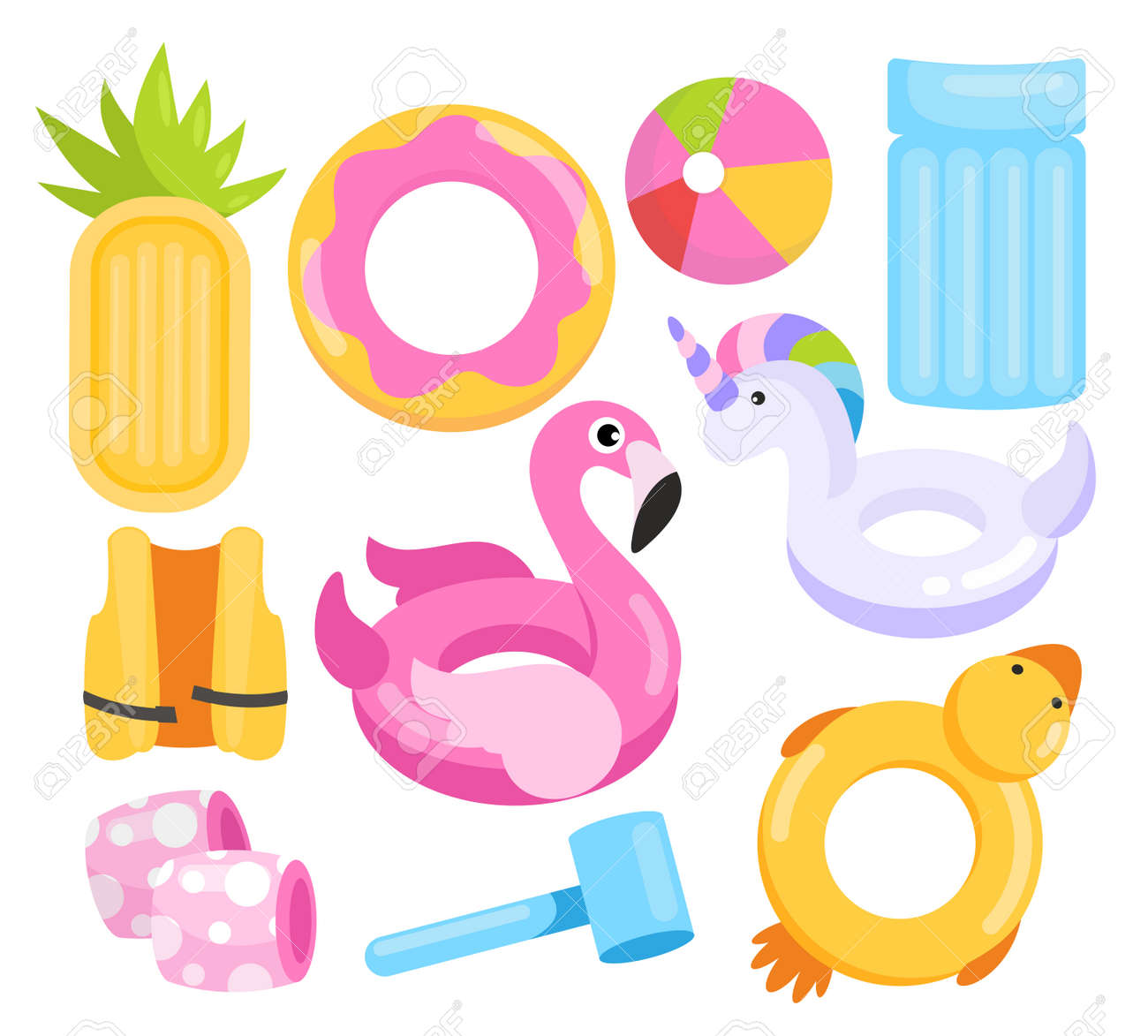 Toys water set, cartoon inflatable equipment collection - 158578836