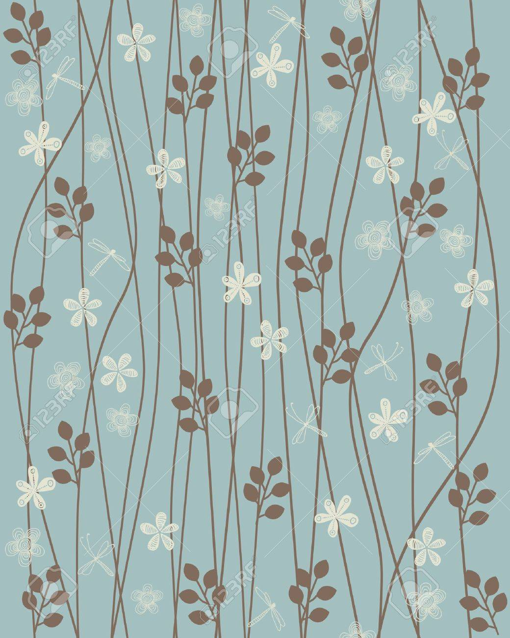 seamless floral background - 12900263