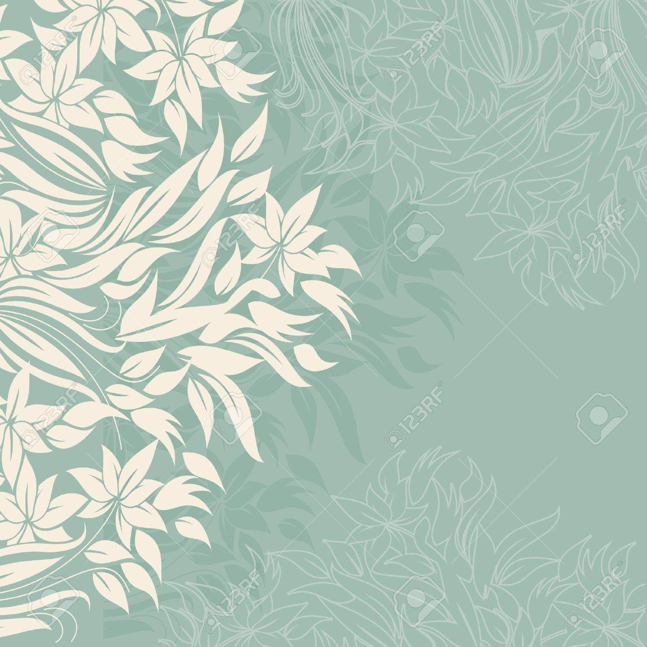 White curtain wallpaper - White Curtain Template Frame Design For Greeting Card With White Flowers