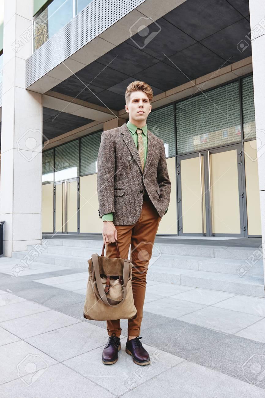 4a5ed9e4df380 Yong Boy Man Business Casual Street Style Fashion Stock Photo ...