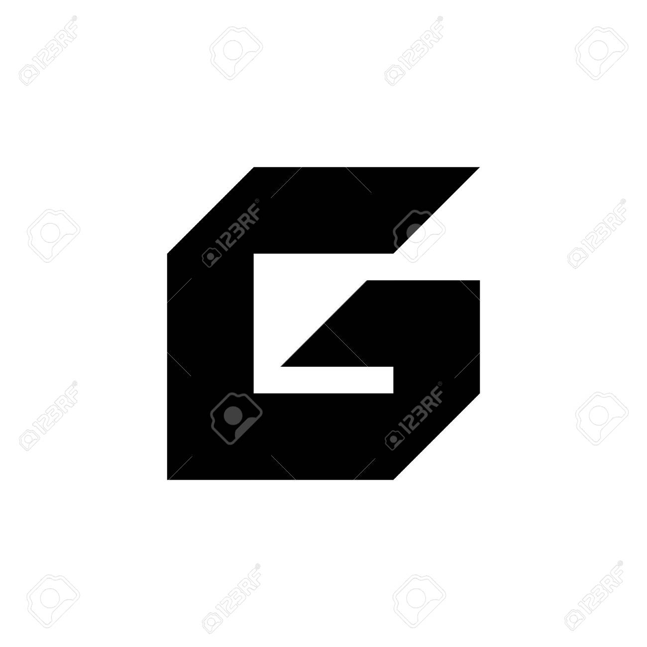 letter template icon  Stock Photo